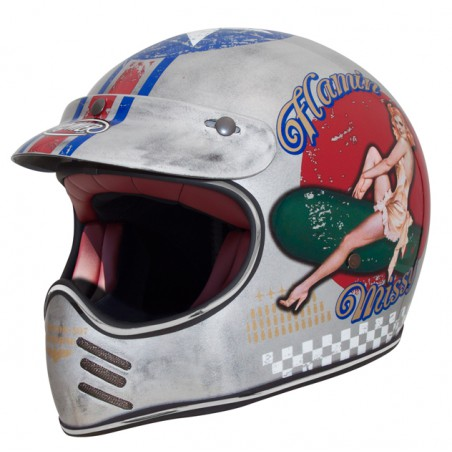 Trophy Mx Helme Pin Up Old...